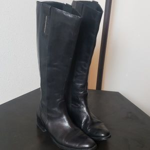 Lavorazione Artigianablack leather boots 40
